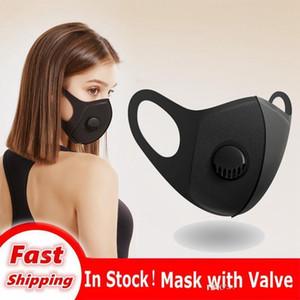 Riutilizzabile maschera di protezione della valvola DHL Maschere individualmente con Nero Packaged maschere antipolvere lavabile Filtri di respirazione Mssk espresso libero di trasporto 16 Kani