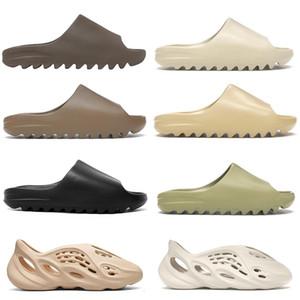 Kanye Beach zapatillas de diapositivas para hombres mujeres niños Bone Triple negro hollín núcleo de arena del desierto Tan Tierra resina de Brown Ararat sandalias para hombre al aire libre