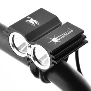 Solarstorm 5000 Люмен 2x XML U2 Светодиодный Солнечный велосипедный велосипедный велосипед Передняя лампа лампы фары фары (без батареи) Y200920