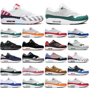 2020 Yeni 1 Erkek Kadın Koşu Ayakkabıları Yıldönümü Kırmızı Kraliyet Turuncu Yeşil Parra Bred Papatya Erkek Eğitmenler Açık Moda Spor Sporları