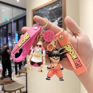Ball аниме дракона брелок силиконовые милые goku модель цепь милый мультфильм рисунок 3d кукла ключ кольца беседка детская игрушка