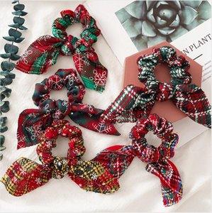 Coniglio regalo fascia del fiore di Natale Donne Banda Fasce Scrunchie pacchetto a fascia diadema di moda dei capelli del partito degli accessori favore DDA722