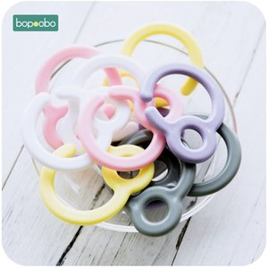 Bopoobo 20pc Plastic Pacifier Hook Teething Ring Links For Baby Stroller Toys DIY Dummy Clips Baby Teether Baby Cart Accessories 201020