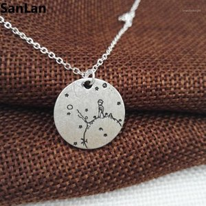 10pcs new Arrival lonely The Little Prince Necklace under the moon with star Gift for Her Reader Book Lover Gift SanLan1