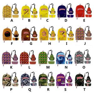 estilos múltiplos Sertão mochila para Carry Homens Rapazes Cigar Sertão Laptop Shoulder viagem Bolsa Escola 3pcs Kit venda DHL
