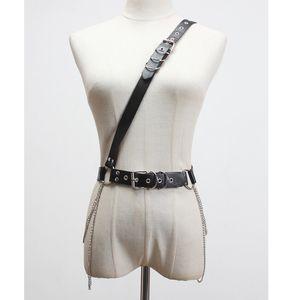 [EWQ] 2020 Spring Summer New Arrivals Women Fashion Trend Casual Tenperament Metal Belt With Wild Shoulder Strap Belt AW78601 T200427