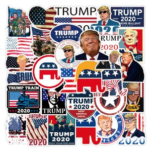 50pcs lot President Donald Trump PVC Stickers On Laptop Car Scrapbooking Phone Motorcycle Luggage Decor Sticker Toys For Kids