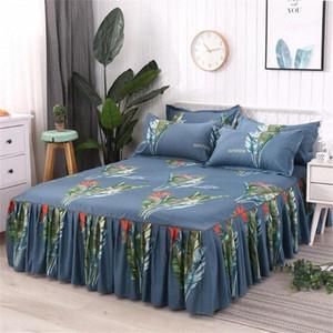 3 pcs definir cama saia de cama queen size conjunto de algodão colecionador incluindo menina lençóis colegas apoios em casa suprimentos IWA9 #