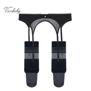 Varsbaby sexy transaprent underwear yarn bow garters+stockings 2 pcs S-XXL for women 201015