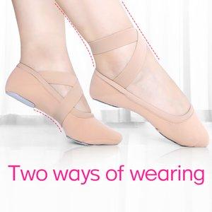 Girls Elastic Soft Ballet Dance Shoes Ballet Slippers High Stretch Women Dance Slippers 201017
