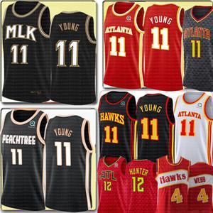 NCAA New TRAE 11 Young De'Andre 12 Охотник Джерси Университет Ретро Spud 4 Webb 21 Баскетбол Майки Вышивка Логотипы