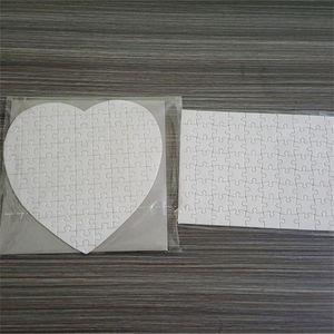 Puzzle de sublimación A5 A4 A4 DIY Puzzles en blanco Puzzles Blanco Puzzle Jigsaw 120pcs / 80pcs Transferencia de tremal de calor Impresión de transferencia Regalos hechos a mano H11905