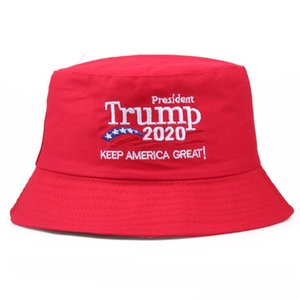 Donald Trump Bucket Hat Embroidered Cap Keep America Great Hats Trump Cap USA Republican President Wide Brim Fisherman Hat PPF2322