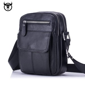 men's Genuine Leather Vintage Messenger Bag cow leather male Casual multifunction Small Crossbody bag hangbag man Shoulder Bags 201006