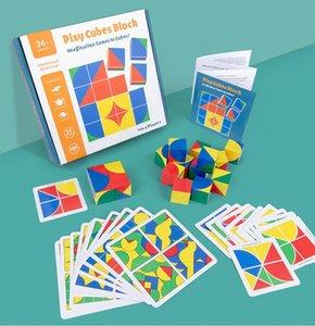 Nouveau bois Jigsaw Puzzle Espace Cube jouets éducatifs pour enfants Think Building Blocks Intelligence éducation Cadeaux développement
