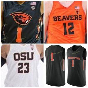 Oregon State Beavers College Basketball Jersey 31 Eli Glenzel 44 Isaac Barnes 20 Gary Payton 33 Steve Johnson Donna-cucita Gioventù