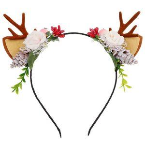 Antlers Headdress Deer Christmas Party Horn Branches Headband Hair Jewelry Decor
