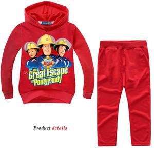 Autumn and winter popular children's suit new suit fire brigade Sam's children's wear cartoon children's clothing cotton