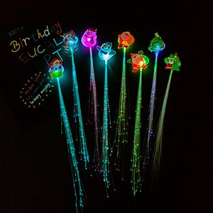 Creative Colorful Luminous Braids For Christmas Party Led Fiber Braids Party Flashing Props Free Shipping HHB2372