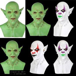 Costumes Flame Terrifying Supplies Clown Masquerade Toothy Mask Cosplay ALGga Props Horrible Party Realistic Costumes Flame Terrifying Ecnm