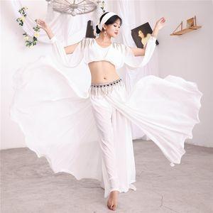 Fairy Muswashat Bellydance Costume Saidi Vestido Baladi Galabeya Fallahi Abaya Oriental Danza Maxi Falda de 5 piezas Set Show Outfit