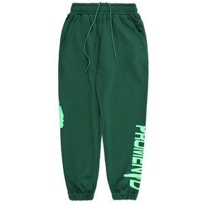 Erkek Pantolon Moda Sweatpants Joggers Erkekler Kadınlar Yüksek Kaliteli Spor Koşu Pantolon Işın Ayak Pantolon Boyutu S-XL