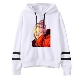 Women clothes hoody ladies billie eilish Cartoon Image of American Fashion Singer Printed New pattern hoodies women kawaii Y200107