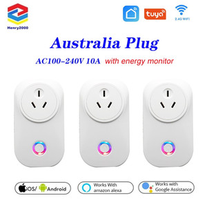 Original 10A Wireless WiFi Smart Socket Power Austr Plug With Power Meter Remote Control Alexa Phones APP Remote Control by IOS Android