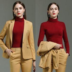 Business-Anzüge Damen Frauen Anzüge mit Hosen Frauen Blazer Office-Geschäft Arbeit für Frauen Jacke und Hose Set Blazer
