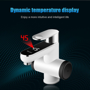 FreeShipping Home Kitchen Touch Faucet Hot Water Heating Tap With Electric Shower Induction Heater Instantaneous Water Heaters heater tap