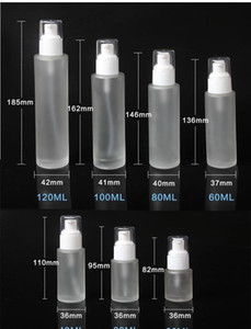 20ml 30ml 40ml 60ml 80ml 100ml 120ml Frosted Glass Cosmetic Lotion Pump Bottle Refillable Liquid Perfume Spray wmtpPp dh_garden