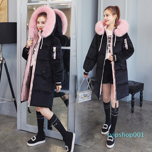 2020 New Arrival European Style Winter Jacket Women Hooded With Fur Warm Thicken Womens X-Long Coat 3XL Female Parka Parkas