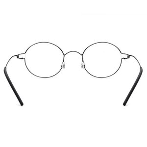 Toptan -Titanium Alaşım Erkekler Kadınlar Gözlük Çerçevesi Ultralight Yuvarlak Optik Gözlük óculos Gözlük Demasculino Reçete