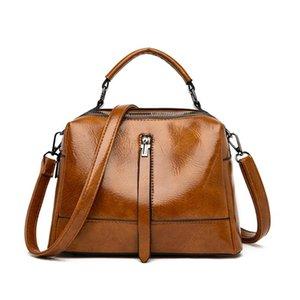 LONOOLISA Qualitäts-Öl-Wachs-Haut-Damen Handtaschen Luxus-Handtaschen Weinlese-Frauen-Schulter-Beutel-Entwerfer-Marken Corssbody