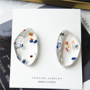 2020 new fashionable originality and transparent acrylic earring joker niche fashion design irregular simple earrings female