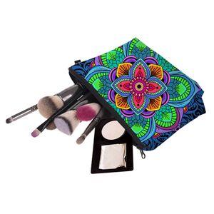 Bohemia Style Floral Print Cosmetic Bags Women Travel Makeup Case Handbag Zipper Cosmetic Case Flower Printed Bag Tools