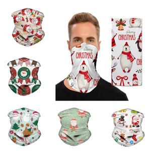 Escudo facial Chirstmas mágico Pañuelo deportes al aire libre diadema bufandas Dustpoof de Cycing Turbante visera cuello polaina Decora la Navidad