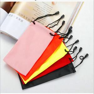 Caso Protecitve suavidad portable impermeable bolsa para gafas de sol de la lente de los vidrios móvil bolsa Gafas Herramienta Accesorios Anteojos bolsa