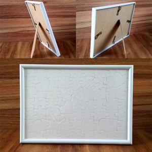 Harfler Resim Çerçeveleri Süblimasyon Boş A4 Standı Jigsaw Beyazlar Aşk Kalp Oturma Odası Plastik Çerçeve Quadrilateral 5ZH L2