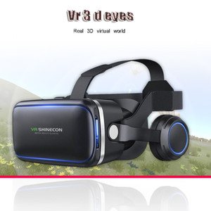3-D virtual reality VR glasses headset box VR for 4-6 inch mobile phone + smart Bluetooth wireless remote control game machine W0107