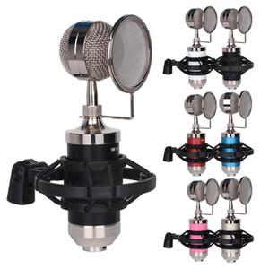 Enregistrement Mic Kit Microphone à condensateur cardioïde avec montage Filtre pour Vocal Live Streaming Singing Broadcasting