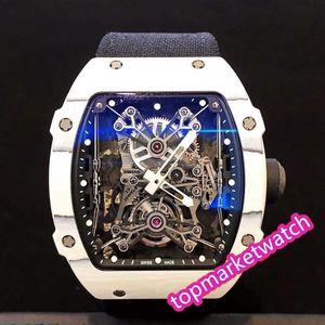 Высокое качество Производитель 5 стилей Мужские автоматические часы RM27-01 RM27-03 Рафаэль Nada Ntpt Carbon Fiber Watchcase сапфировое Openworked