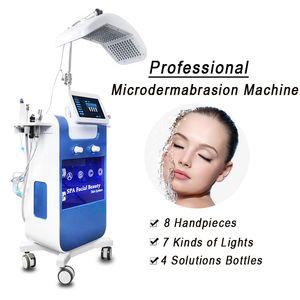 Nouvelle arrivée 8 en 1 DIAMOND peau MICRODERMABRASION propre visage à ultrasons L'échographie peau Scrubber Peeling LED thérapie machine