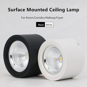 LED Downlights 10W 15W 20W 25W Surface Mounted Ceiling Lamps Spot Light AC85-265V Surface Mounted Down Light White Warm white