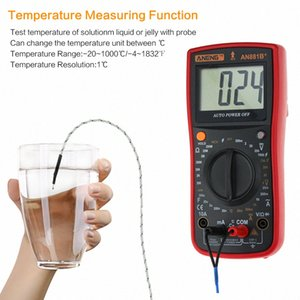 AN881B+ true rms digital multimeter tester transistor testers manual high precision digitals multimeter tester ac dc multi meter UJhU#