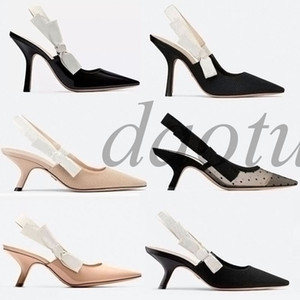 Fashion High heeled sandals J'A Gladiator Leather Pointed shoes sexy Designer luxury heel High heeled shoes Letter woman shoes AZ3
