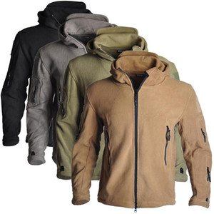 Men US Winter Thermal Fleece Tactical Jacket Outdoors Sports Hooded Coat Softshell Hiking Outdoor Army Jackets