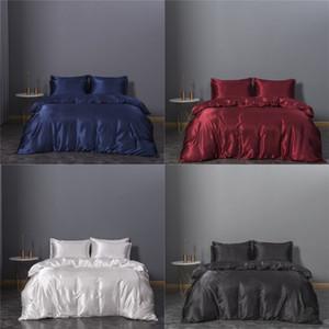 Set da letto a tre pezzi Set di biancheria da letto DUVET Cover Queen Size BedClothes Comforter Sets Imitazione Biancheria da letto di seta Articolo Nuovo arrivo 74xn3 K2