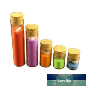 4 ml 5 ml 6 ml 18ml 22ml 30ml mini botellas de cristal de prueba tubos de tarro de almacenamiento para alimentos líquidos arena regalo de DIY 100pcs Botellas
