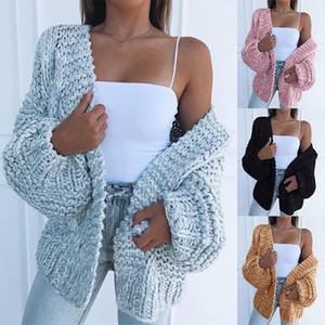 Women Sweater Fashion Cardigan Bat Coat Womens Casual Autumn Long Sleeve Plush Loose Plus Size Sweaters Outerwear Tops